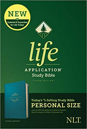 Personal Size NLT Life Application Study Bible, Third Edition (Teal Blue)