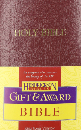 KJV Gift & Award Bible, Imitation Leather: Burgundy