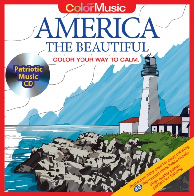 Color With Music: America The Beautiful (With CD)