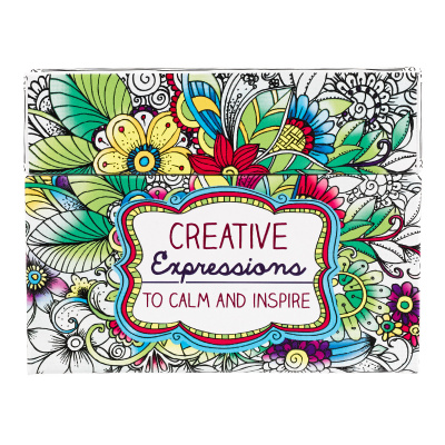 Creative Expressions To Calm & Inspire (44 cards) Coloring