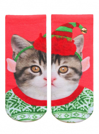 Elf Kitten Ankle Socks