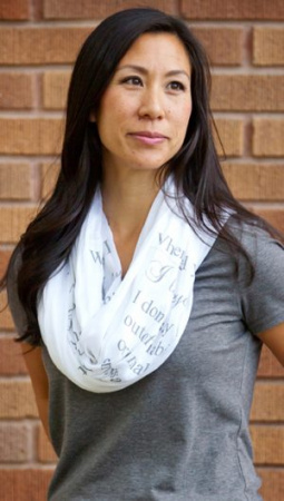 (Teal) Hail Mary Infinity Inspirational Scarf