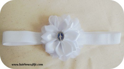 White Blessed Mother Headband
