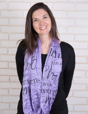 (Teal) I Am...Infinity Inspirational Scarf