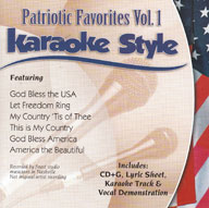Karaoke Style: Patriotic Favorites, Vol. 1