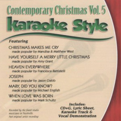 Karaoke Style: Contemporary Christmas, Vol. 5